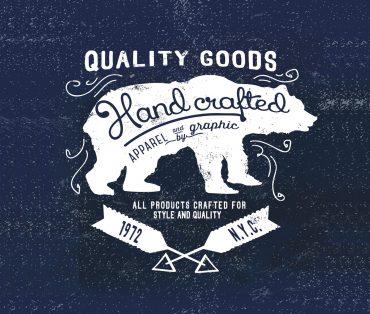 hand crafted bear mockup